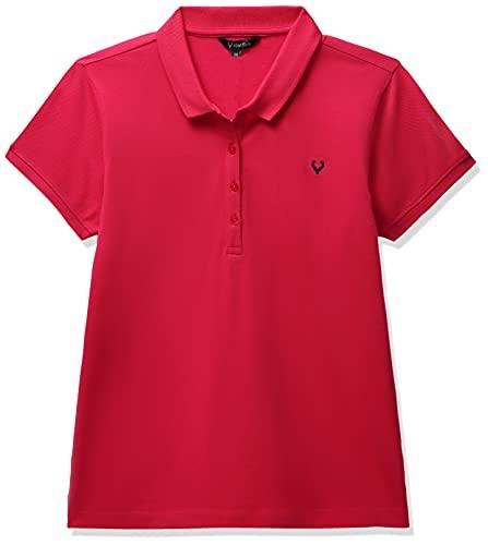 Allen Solly Women's Regular Polo Shirt (AHCTCRGF179996_Dk Pink Solid 2X-Large)