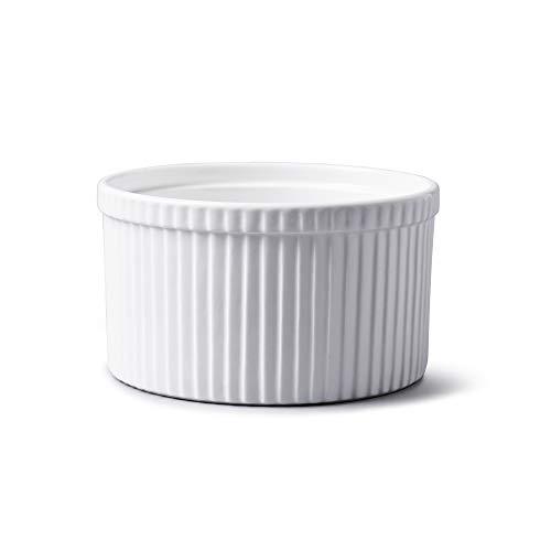 WM Bartleet & Sons Souffléform aus traditionellem Porzellan, Weiß, weiß, 14 cm