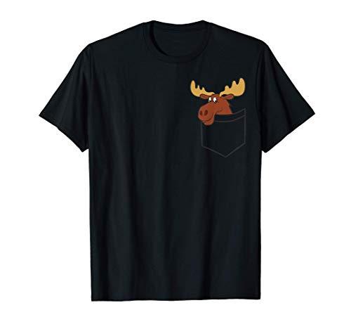 Lustiger Elch in der Taschen Elch Kanadischer Elch T-Shirt