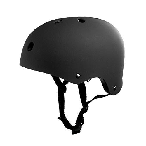 IUwnHceE Skateboard-Helm Kind Erwachsener Fahrradschutzhelm Ventilation Für Multi Sport Fahrrad Skateboard Scooter Roller M Schwarz 1pc Praktisches Geschenk