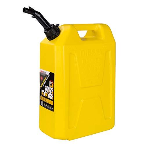 GADHNN 5/10 latas / 20L de Gasolina, Gasolina de plástico Espesado portátil Botella Tanque de Combustible Diesel del Tanque de Repuesto de automóviles y Motocicletas (Color : Yellow, Size : 20L)