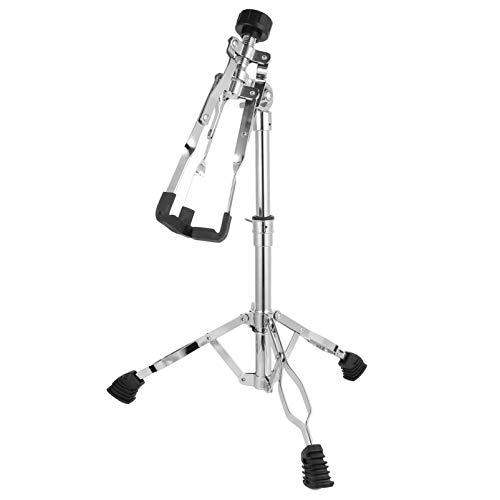 ULTNICE Snare Stand Drum Sticks Halter Doppelstrebige Stativkonstruktion Armhalterung für Snare Drum Anfänger (Silber)