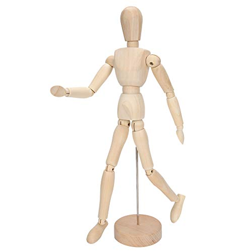 SALUTUYA Manichino Umano in Legno da 12 Pollici Manichino Umano Modello Umano, manichino Flessibile per Arte/Disegno del Corpo
