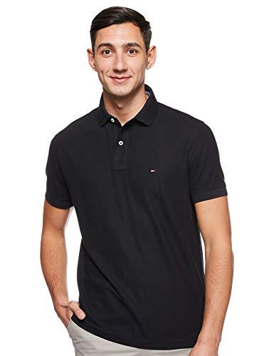 Tommy Hilfiger Herren CORE Hilfiger Regular Polo Poloshirt, Schwarz (Flag Black 060), Medium