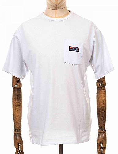 Patagonia M's Boardshort Label Pocket Responsibili-Tee T-Shirt für Herren M weiß