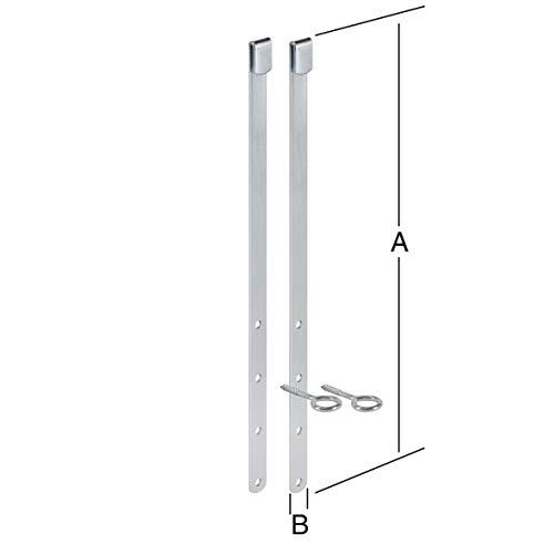 VORMANN Gitterrostsicherung Kellerschachtsicherung Einbruchschutz, Stahl verzinkt, 2 Stück, Made in Germany
