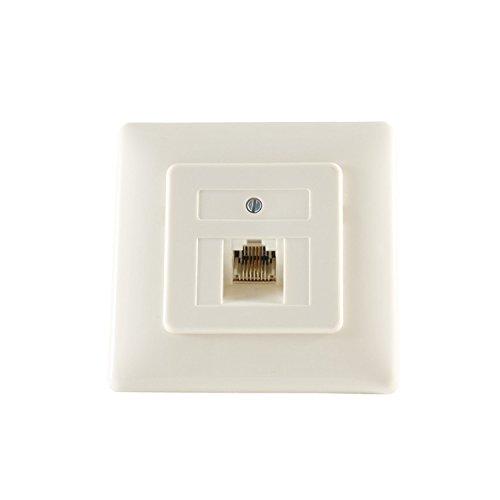 Kabelbude KB74221 402 ISDN / UAEソケット1x8(4)ISDNメタルフレームフラッシュマウントクリームホワイト
