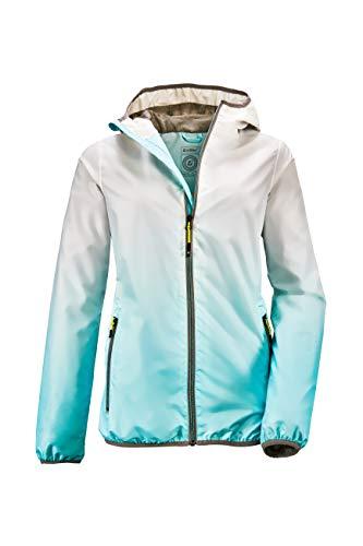 Killtec Kaira kurtka funkcyjna, damska kurtka z kapturem, lekka kurtka przejściowa, kurtka outdoorowa, kurtka przeciwdeszczowa jest w 100% wodoszczelna, Hellaqua, 34