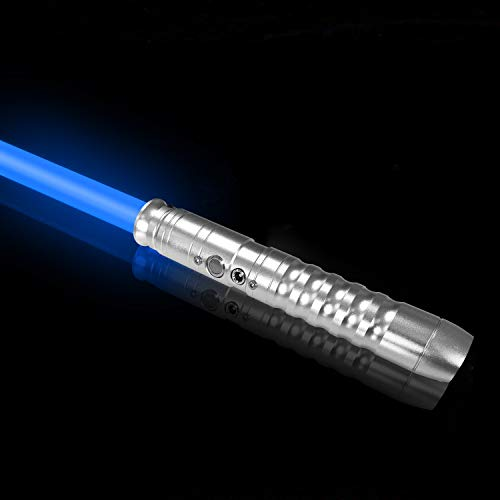 Star Wars Light Sabers for Adults Metal Handle Sound Vibration Effects Lightsabers 11 Colors Changeable Electronic Lightsaber with Sounds Grey