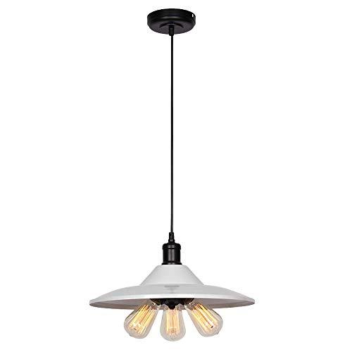 Vintage ijzeren kroonluchter, LED wit pot deksel verlichting decoratieve plafondlampen moderne bar gang eettafel hanglamp, 1/3 lampkop