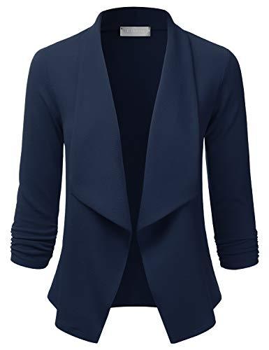 EIMIN Women's 3/4 Sleeve Blazer Ope…