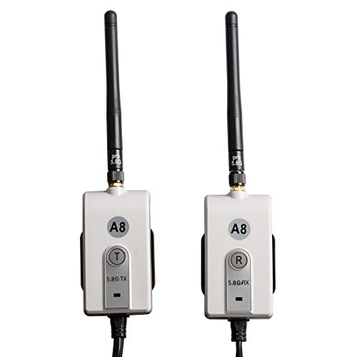 AKK 625-600-A8 5.8G Wireless Video Transmitter and Receiver Kit for Car Vehicle Backup Camera or Front Car Camera Rear, Backup Camera System