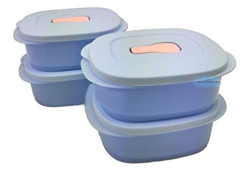 Tupperware CrystalWave 4 X 500 ML forno a microonde Frigorifero Contenitore per il pranzo Contenitore per il pranzo e 1 X Mini frigo
