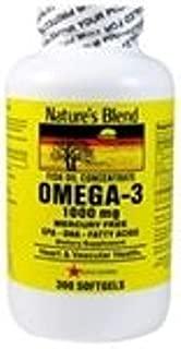 Nature's Blend Omega-3 Fish Oil, 1000 mg 300 Softgels