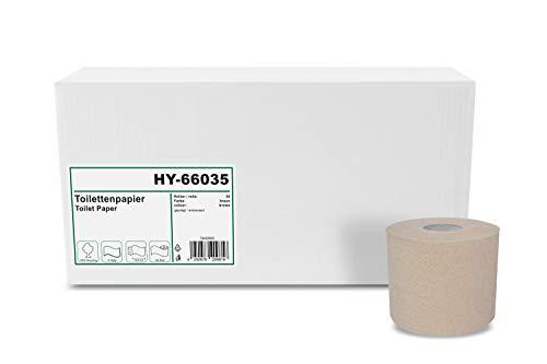 Hypafol Toilettenpapier umweltfreundlich, 2-lagig, ohne Plastikverpackung | Vorratspack mit 30 Rollen, à 400 Blatt | 100 % recycling | extra langes Blatt 9,5 cm x 12,5 cm