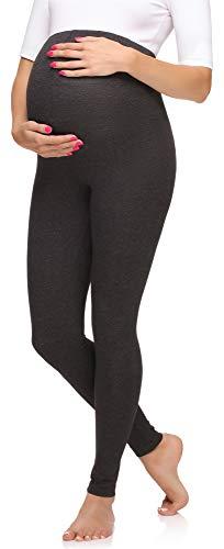 Merry Style Leggings Premaman Lunghi Donna MS10-297 (Melange Scuro, XXL)