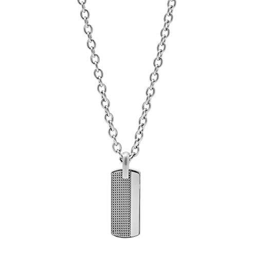 Fossil JOF00497040 - Collar de acero inoxidable para hombre