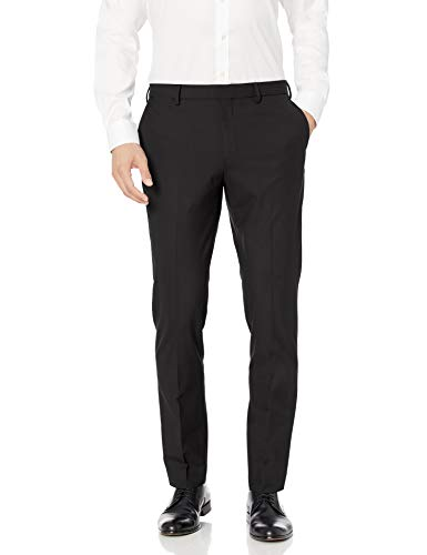 Amazon Essentials Men's Slim-Fit Wrinkle-Resistant Stretch Dress Pant, Black, 31W x 29L
