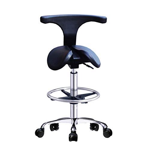 HYRL Verstellbare Sattelhocker-Stühle mit Rückenlehne, ergonomisch Verstellbarer rollender Sattelhocker - für das Studio eines Klinik-Zahnarzt-Spa-Massage-Salons