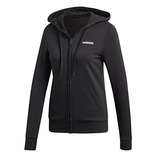 adidas Damen W E PLN FZ HD Sweatshirt, Schwarz (Black Dp2414), S