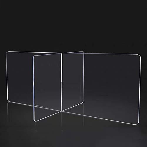 ELLENS Spuckschutz Nieschutz, Student Desk Esstisch Teiler Schild, Schutz Plexiglas transparente Barriere, Büro Schule Cross Divider, 115xH48xB115cm (45x19x45inch)