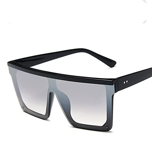ShSnnwrl Único Gafas de Sol Sunglasses Gafas De Sol Cuadradas De Gran Tamaño Vintage Hombres Mujeres Diseñador Flat Top Fashion G