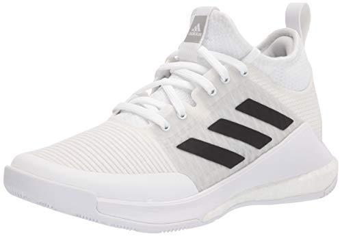 adidas Women's Crazyflight Mid Volleyball Shoe, White/Black/Grey, 6