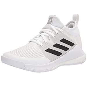 adidas Women's Crazyflight Mid Volleyball Shoe, White/Black/Grey, 9