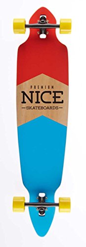 Nice Flag Longboard Mixte Adulte, Multicolore, 9\