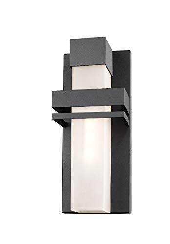 Artcraft Lighting AC9150BK Contemporary Modern LED Outdoor Wall Mount from Camden Collection in Black Finish, 16.00x6.50x4.00 inches