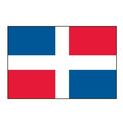 Online Stores, Inc. Dominican Republic Flag 3ft x 5ft Superknit Polyester - No Seal