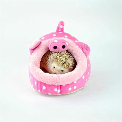 LIGUIJIAO Hamster House Guinea Pig Accesorios Roedor/Guinea Pig/Rat/Hedgehog Hamster Cotton House Pequeño Animal Nest Winter Warm Hogar Coginerías Utilidad Herramientas de Utilidad