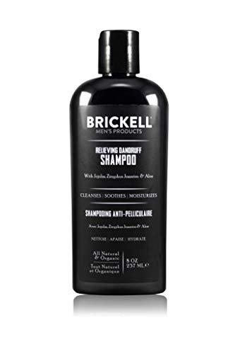 Brickell Men's Relieving Dandruff Shampoo For Men, Natural & Organic, Soothes and Eliminates Dandruff with Ziziphus Joazeiro, Aloe and Jojoba Oil (8 oz)