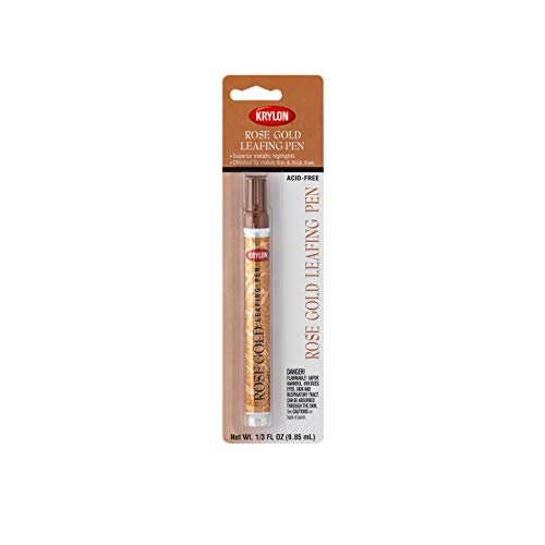 Krylon K09906A00 Leafing Pens Craft Supplies, Rose Gold, 3 Ounces