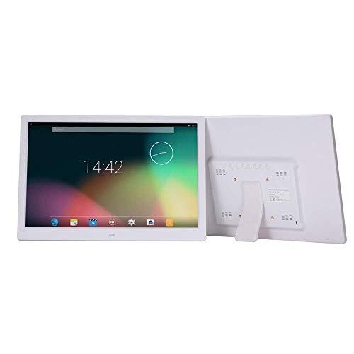 Mutmi 15 Zoll Digitaler Bilderrahmen, Wireless-LAN Touch Screen Display - automatisch drehen, Fotos Via App, E-Mail, Cloud - Touch Screen/Mausbedienung,fünfzehn,Weiß