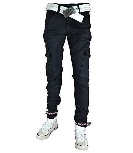 NM KIDS Jungen Cargo-Jeans Hose Skinny 5413 (140, schwarz)