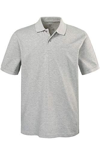 JP 1880 Herren große Größen bis 8XL, Poloshirt, Oberteil, Knopfleiste, Hemdkragen, Pique, grau-Melange XXL 702560 12-XXL