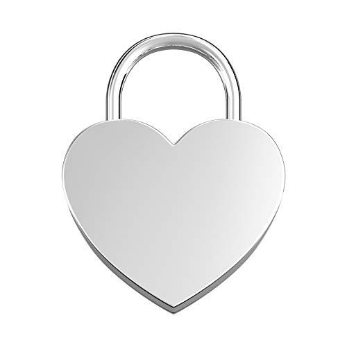 LIEBESSCHLOSS-FACTORY Herz-Schloss Silber ohne Gravur