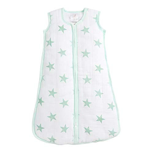 anais Sleeping Bag 100/% Cotton Muslin Shell and 100/% Polyester Fill Aden by aden Dusty 2.5 TOG 0-6 Months