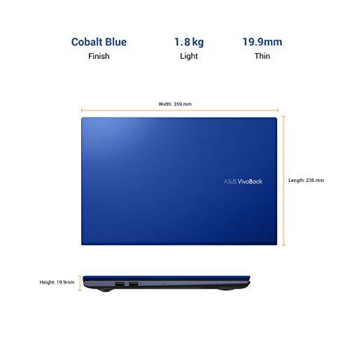 ASUS VivoBook Ultra 15 (2020) Intel Core i3-1115G4 11th Gen, 15.6-inch FHD Thin and Light Laptop (8GB RAM/256GB NVMe SSD/Windows 10/Office 2019/Integrated Graphics/Cobalt Blue/1.8 Kg), X513EA-BQ311TS