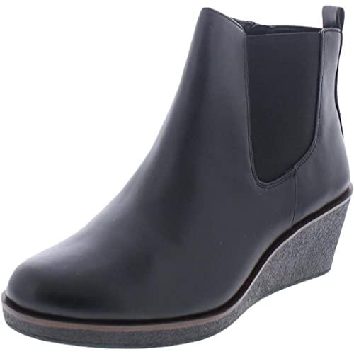 Aerosoles Women's Brandi Ankle Boot, Black PU, 6.5