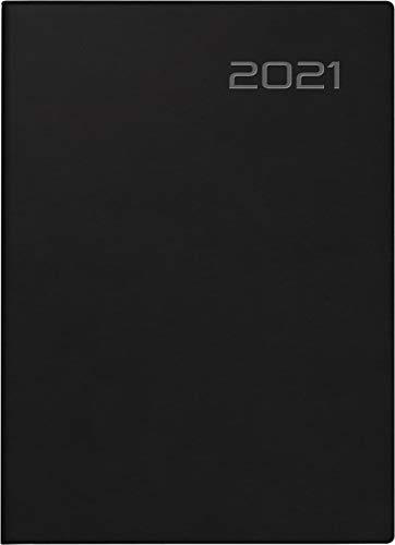 rido/idé 7018503901, Wochenkalender/Taschenkalender Modell Technik S, Balacron-Einband, schwarz: 2 Seiten = 1 Woche