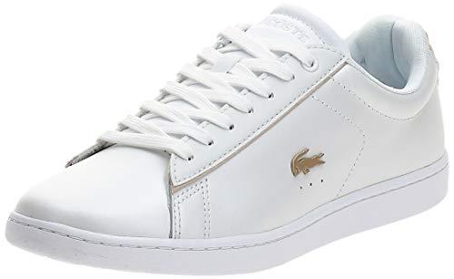 Lacoste Damen Carnaby EVO 118 6 SPW Sneaker, White/Gold, 38 EU