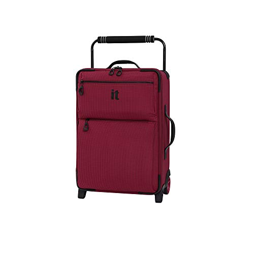 it luggage World's Lightest Los Angeles Softside Upright, Persian Red, Carry-On 22-Inch