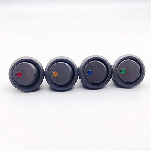 Interruptor basculante 4 unids 12 / 220V 3-Pin 4 Color Cat Eye Ojo Rocker LED LED Toggle Rocker Switch Barco, Coche, Hogar, Industrial SPOR Off 5A 250V (Color : 4pcs, Voltage : DC 12V)