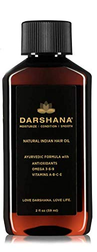 Darshana Natural Indian Hair Oil with Ayurvedic Botanicals (2 fl oz.)