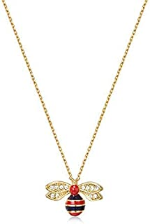 Mestige Golden Bumble Bee Necklace with Swarovski® Crystals, Gift, Insect
