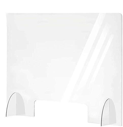 DLHXD Spuckschutz Plexiglas Aus Acrylglasplatte Hustenschutz Sichern Spuckschutz Thekenaufsatz Mit Durchreiche Glasklar Plexiglas Schutzwand Plexiglasplatten(60x80cm)