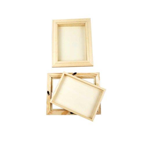 3D-Rahmen mit Glas, 18.2x23.2 cm , Innenmaße (12.8x17.7 cm), Kiefernholz, 1 Stck