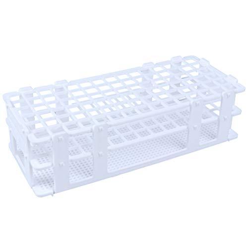 7thLake 1 Stück Kunststoffe Reagenzglasständer Abnehmbare Reagenzglashalter Zentrifugalrohrgestell Labor-Gefäßständer,90-Loch Ø13mm